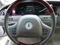 2004 Lincoln Town Car Dark Stone/Medium Light Stone Interior Steering Wheel Photo