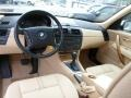 2005 BMW X3 Sand Beige Interior Prime Interior Photo