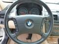 2005 BMW X3 Sand Beige Interior Steering Wheel Photo