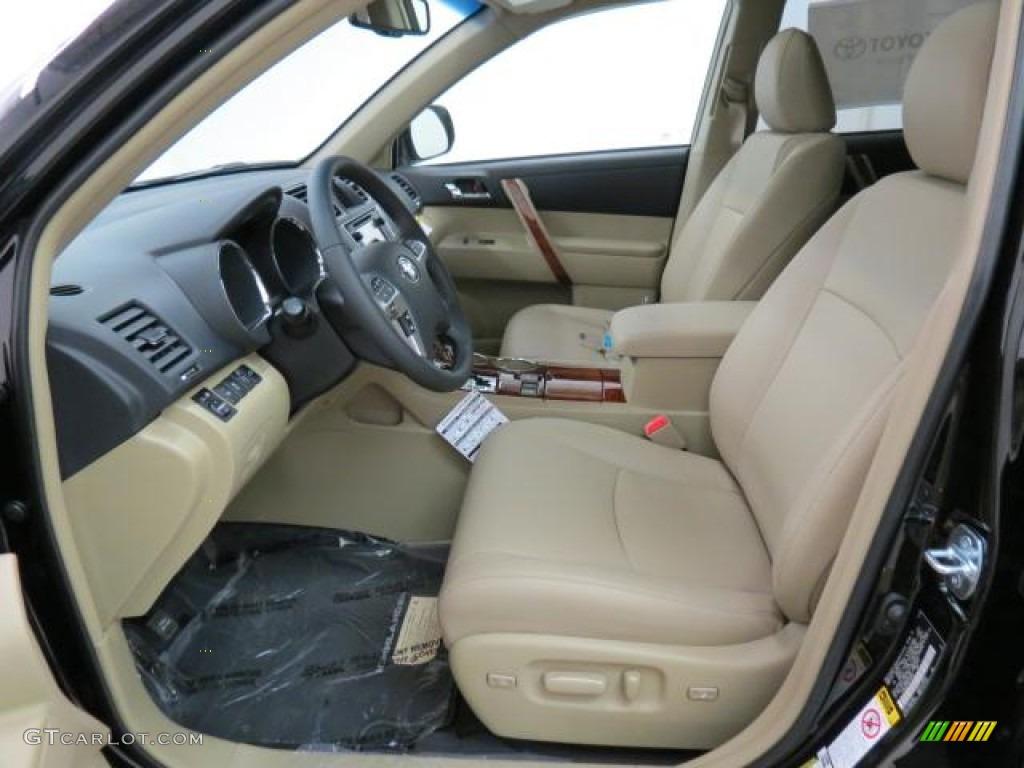 Sand Beige Interior 2013 Toyota Highlander Limited 4wd Photo 75779295