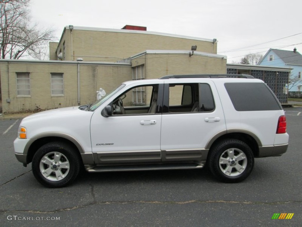oxford white 2004 ford explorer eddie bauer 4x4 exterior. Black Bedroom Furniture Sets. Home Design Ideas