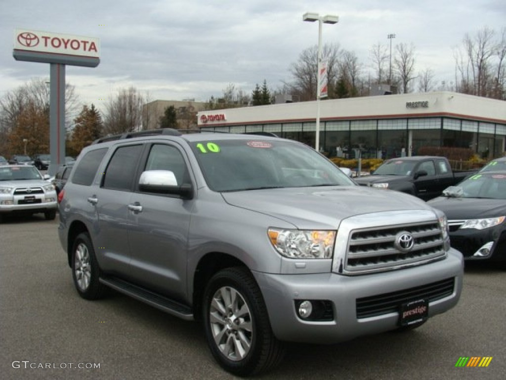2010 silver sky metallic toyota sequoia limited 4wd. Black Bedroom Furniture Sets. Home Design Ideas