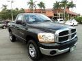 2006 Brilliant Black Crystal Pearl Dodge Ram 1500 SLT Regular Cab 4x4  photo #1