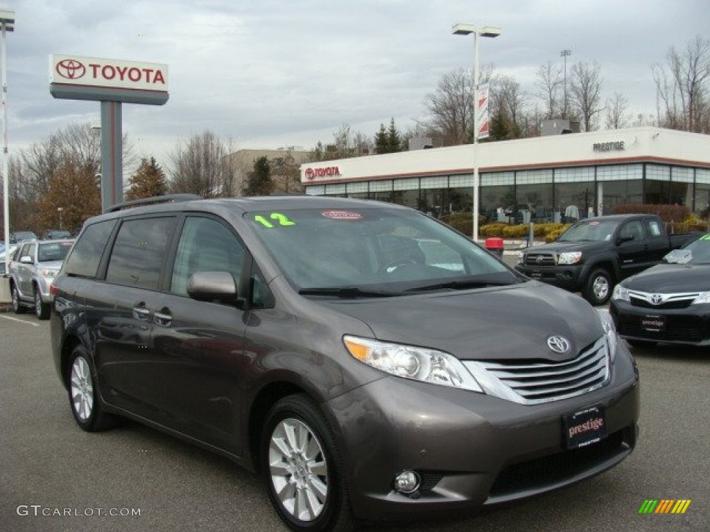 2012 Sienna Limited AWD - Predawn Gray Mica / Light Gray photo #1