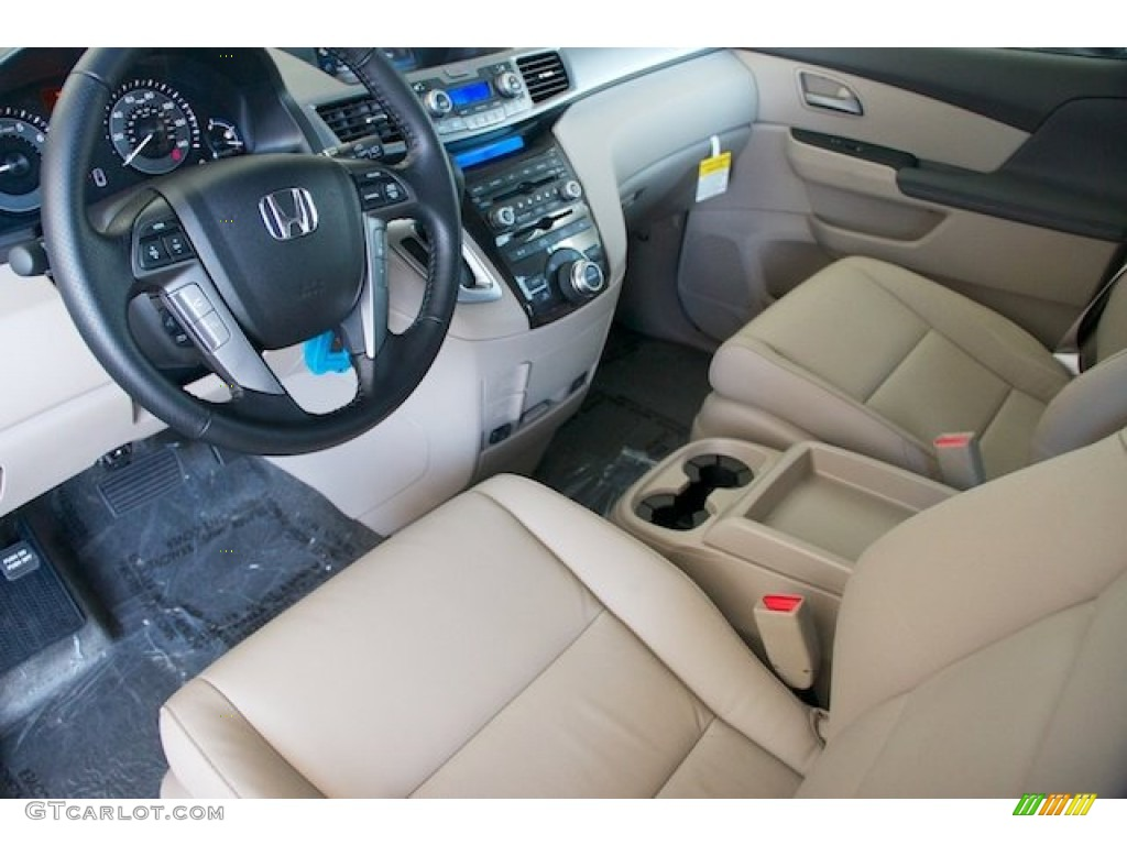 Beige Interior 2013 Honda Odyssey Touring Elite Photo ...