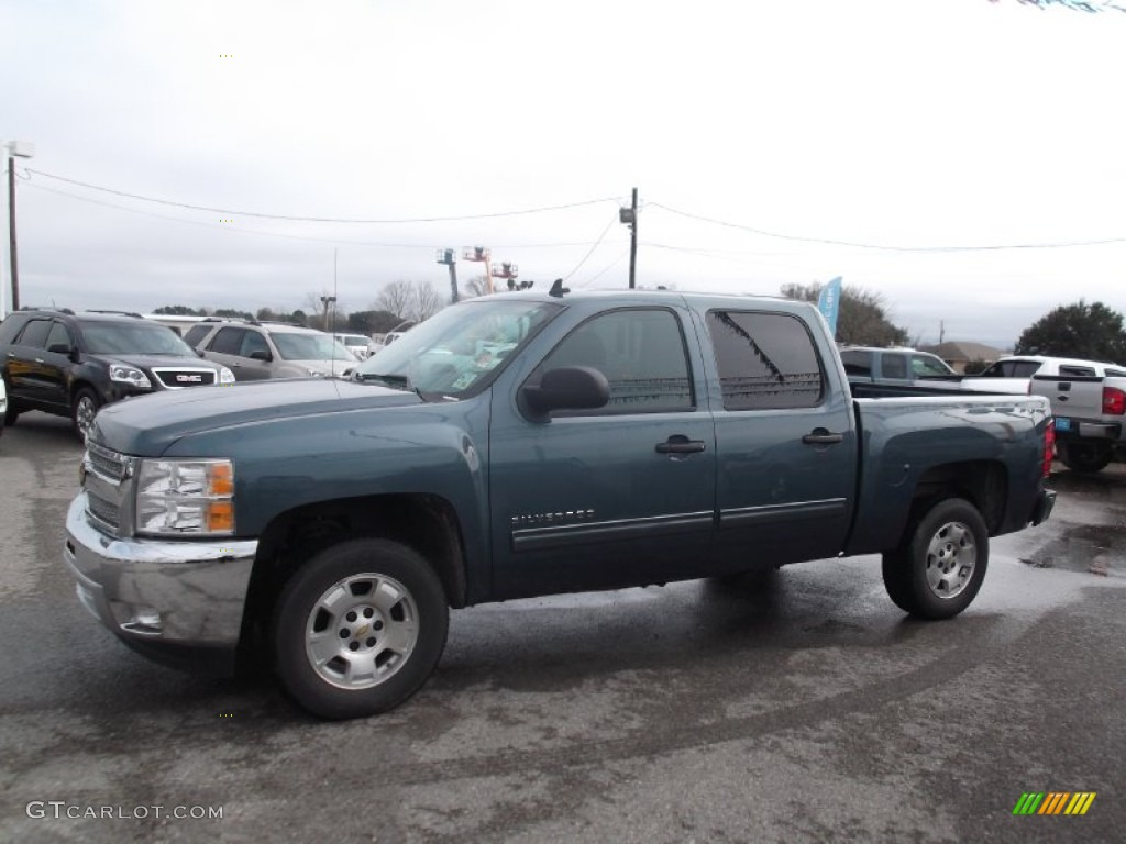 2012 Silverado 1500 LT Crew Cab - Blue Granite Metallic / Ebony photo #5