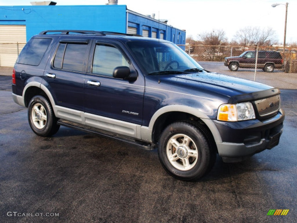 2002 explorer xlt 4x4 true blue metallic graphite photo 1