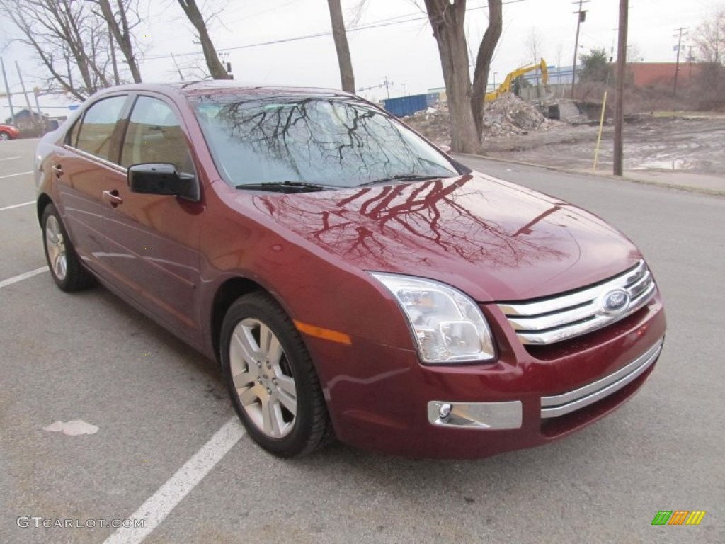 merlot metallic 2007 ford fusion sel v6 awd exterior photo. Black Bedroom Furniture Sets. Home Design Ideas
