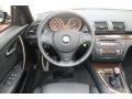 2009 BMW 1 Series Black Interior Dashboard Photo