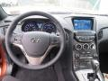Gray Leather/Gray Cloth Dashboard Photo for 2013 Hyundai Genesis Coupe #75903591