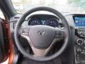 Gray Leather/Gray Cloth Steering Wheel Photo for 2013 Hyundai Genesis Coupe #75903740