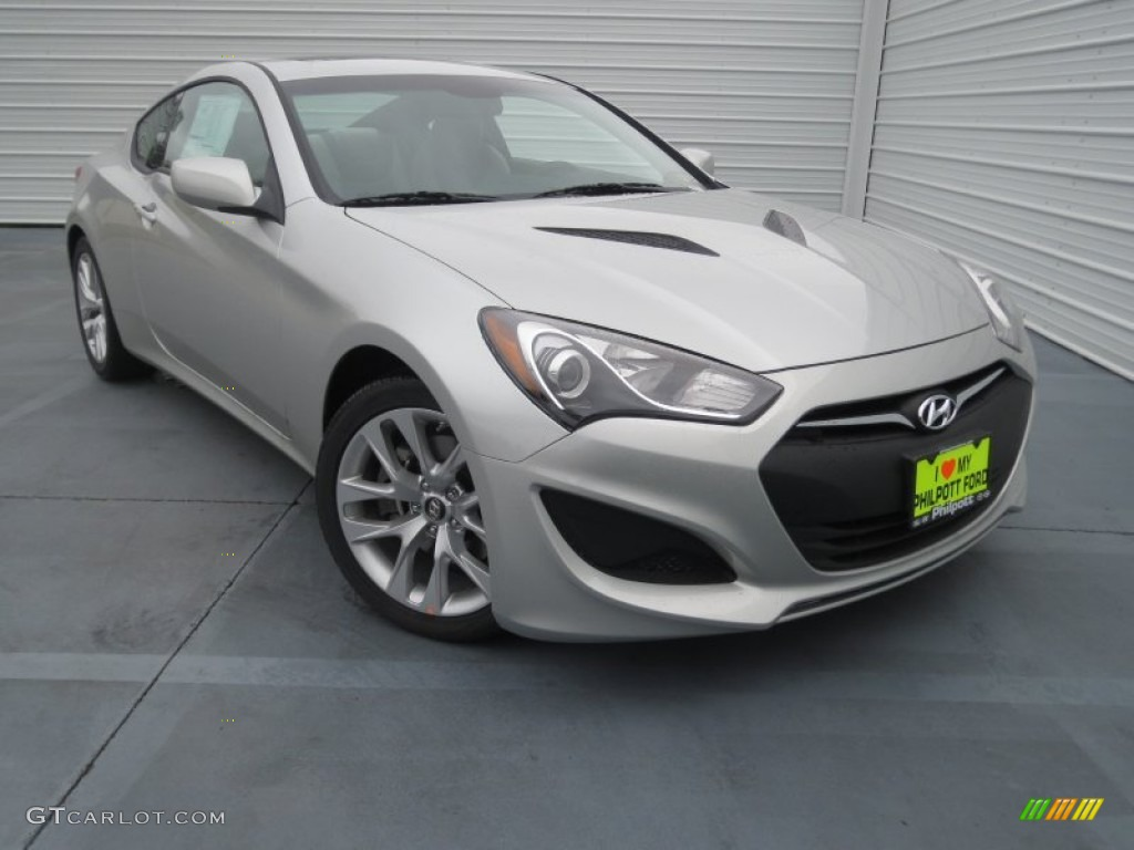 2013 Genesis Coupe 2.0T Premium - Platinum Metallic / Gray Leather/Gray Cloth photo #1