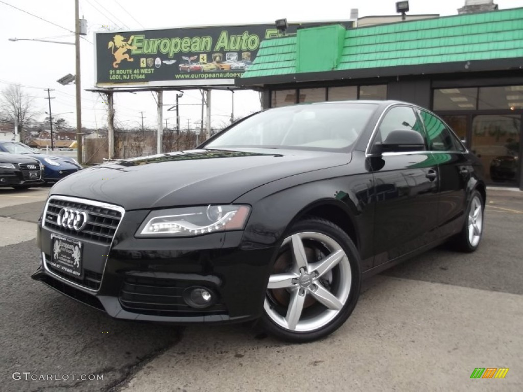 2009 phantom black pearl effect audi a4 2.0t premium quattro sedan