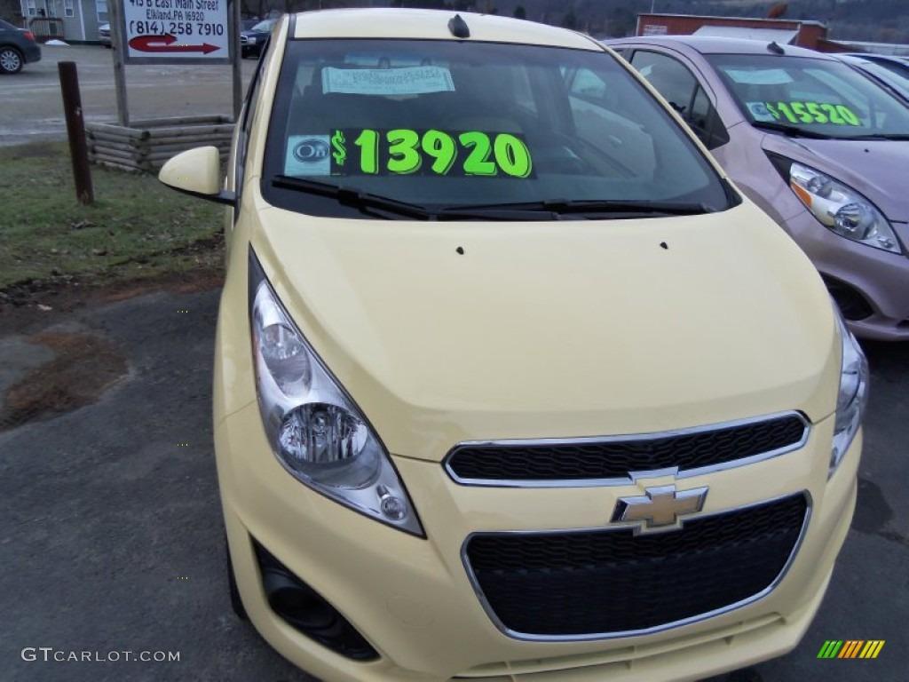 2013 Lemonade Yellow Chevrolet Spark LS 75924458 Photo 2