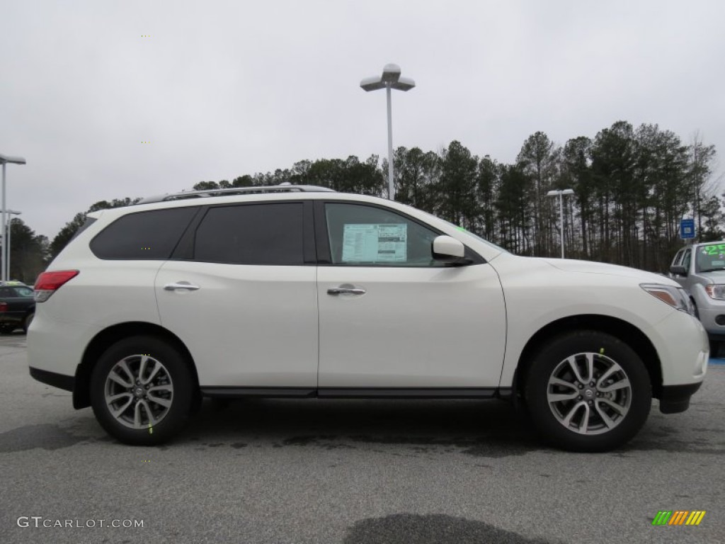 Moonlight White 2013 Nissan Pathfinder Sv Exterior Photo