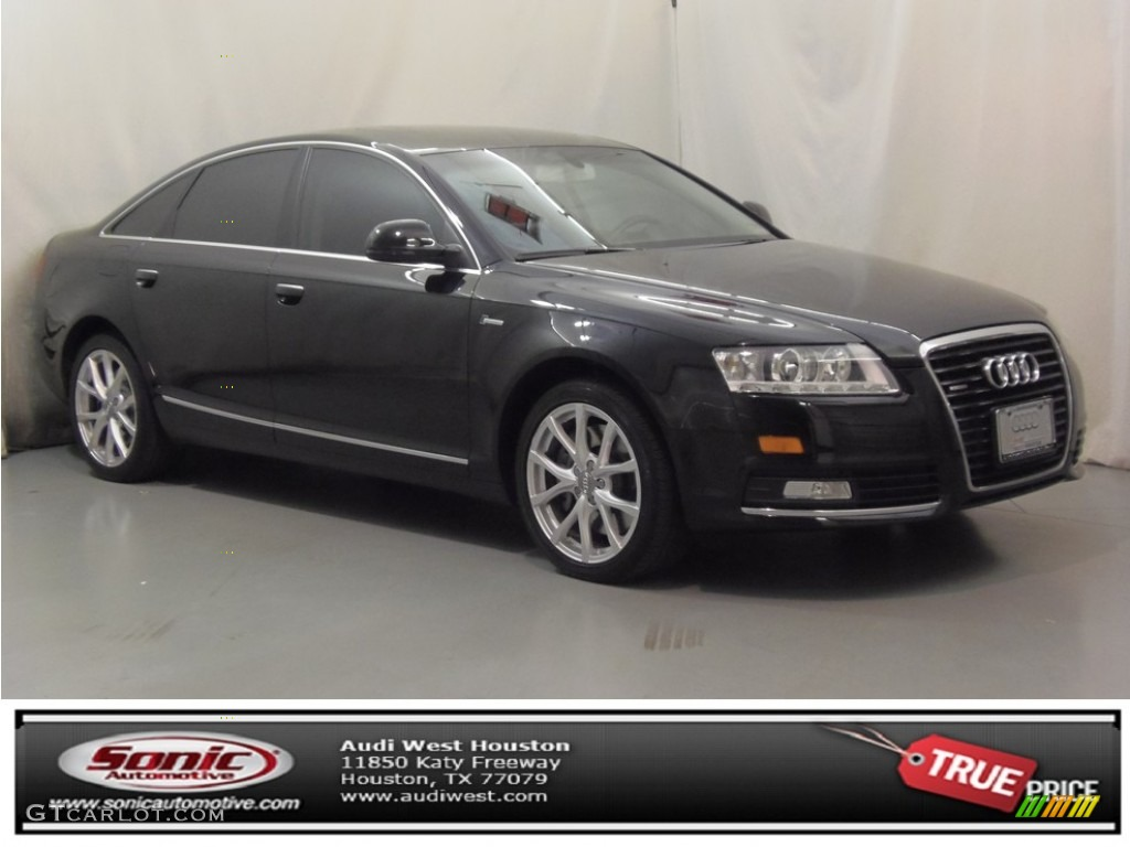 2010 phantom black pearl effect audi a6 3 0 tfsi quattro sedan 75924774 car. Black Bedroom Furniture Sets. Home Design Ideas