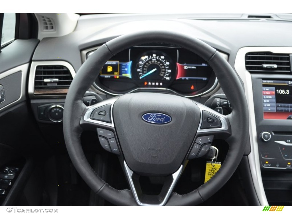 2013 ford fusion se 2 0 ecoboost charcoal black steering wheel photo 76006771. Black Bedroom Furniture Sets. Home Design Ideas