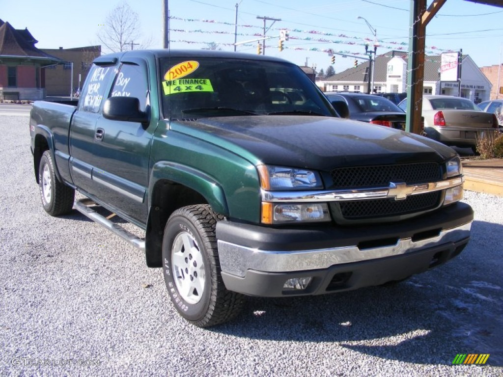 2004 dark green metallic chevrolet silverado 1500 z71. Black Bedroom Furniture Sets. Home Design Ideas