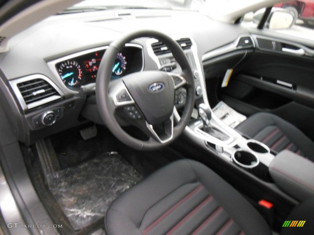 se appearance package charcoal blackred stitching interior  ford fusion se  ecoboost