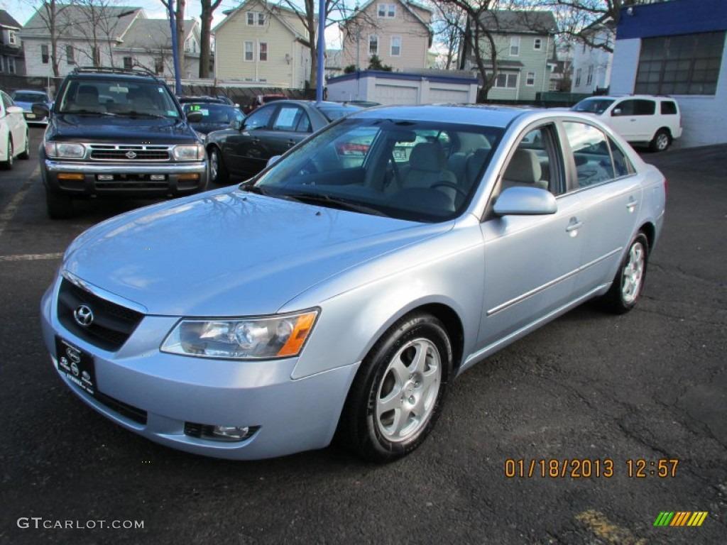 2006 Silver Blue Metallic Hyundai Sonata Gls V6 76072457