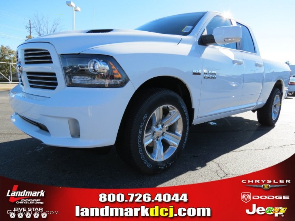 2013 1500 Sport Quad Cab - Bright White / Black photo #1
