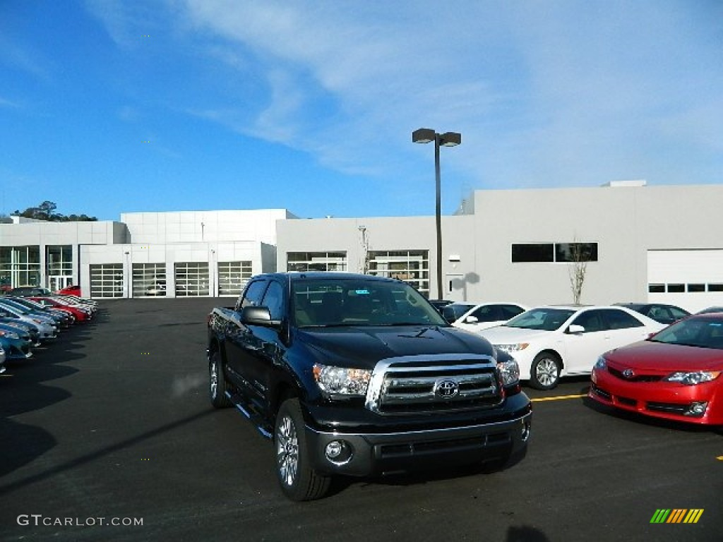 2013 Tundra CrewMax - Black / Sand Beige photo #1