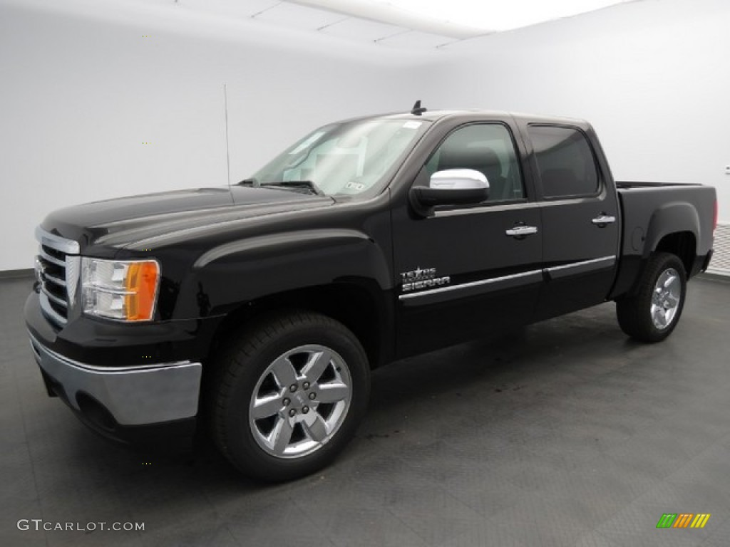 onyx black 2013 gmc sierra 1500 sle crew cab exterior photo 76143582. Black Bedroom Furniture Sets. Home Design Ideas