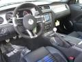 2013 Ford Mustang Shelby Charcoal Black/Blue Accent Interior Prime Interior Photo