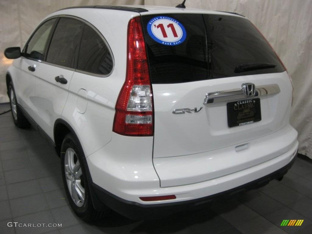 2011 CR-V EX - Taffeta White / Gray photo #10