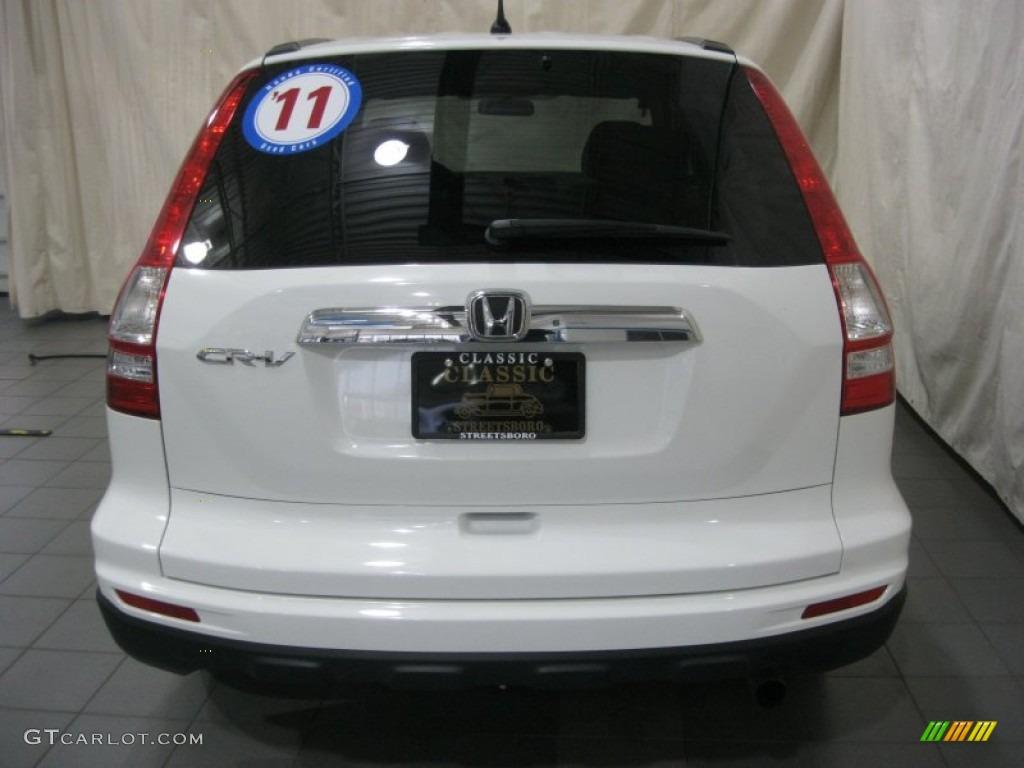2011 CR-V EX - Taffeta White / Gray photo #11