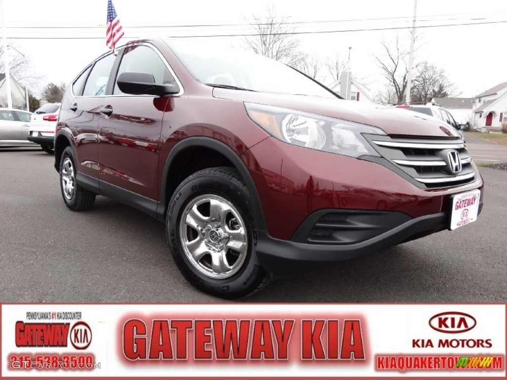 2012 CR-V LX 4WD - Basque Red Pearl II / Gray photo #1