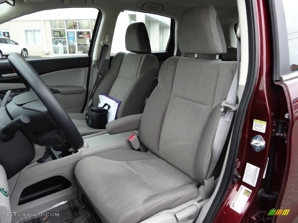 2012 CR-V LX 4WD - Basque Red Pearl II / Gray photo #14