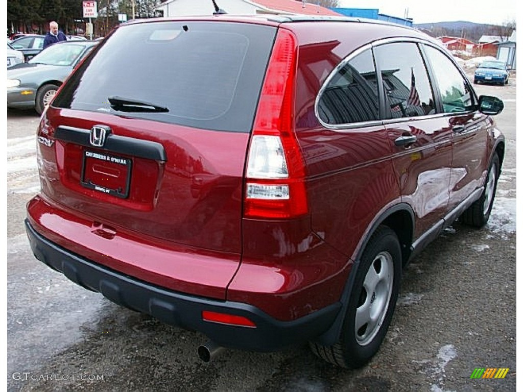 2009 CR-V LX 4WD - Tango Red Pearl / Gray photo #9
