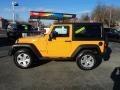 2012 Dozer Yellow Jeep Wrangler Sahara 4x4 #76185755