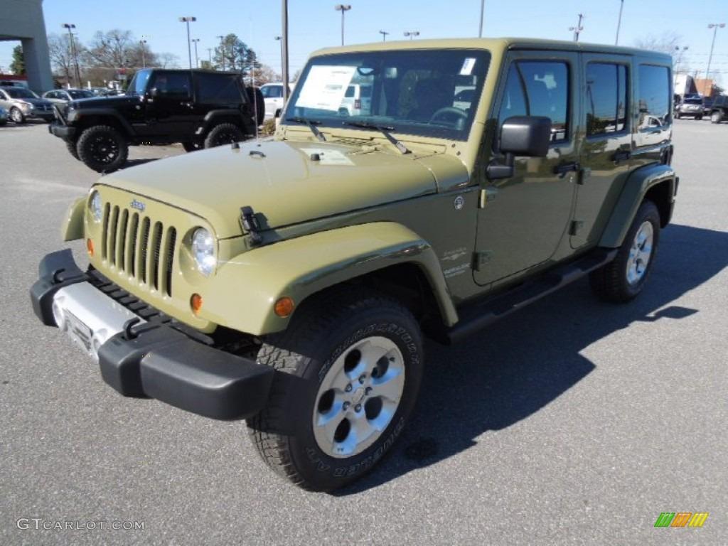 2013 Commando Green Jeep Wrangler Unlimited Sahara 4x4  76224418