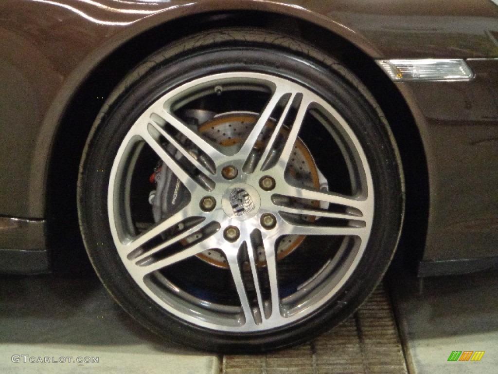 2008 911 Carrera 4 Coupe - Macadamia Metallic / Sand Beige photo #12
