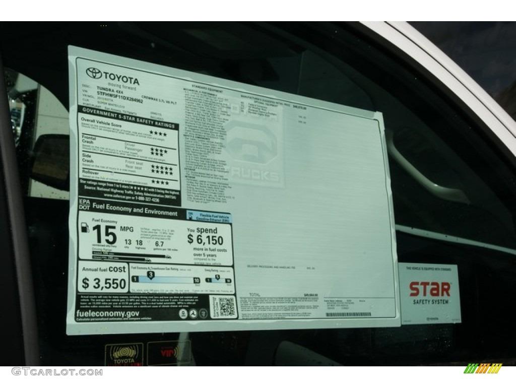 2013 Tundra Platinum CrewMax 4x4 - Super White / Graphite photo #10