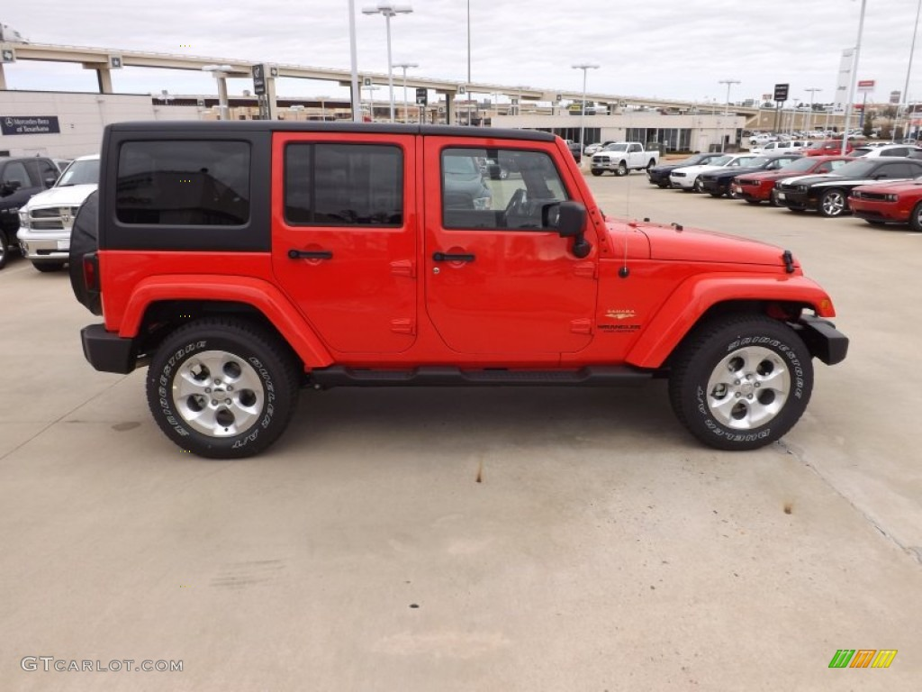 Rock Lobster Red 2013 Jeep Wrangler Unlimited Sahara 4x4