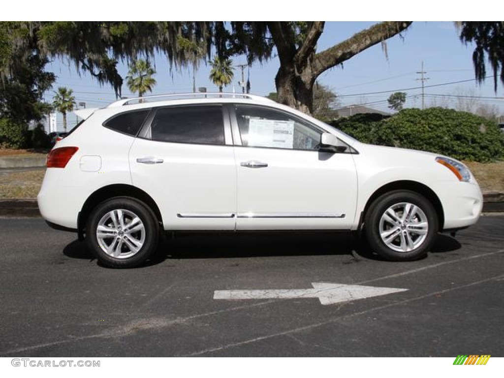 2013 pearl white nissan rogue sv 76278694 photo 3 car color galleries. Black Bedroom Furniture Sets. Home Design Ideas