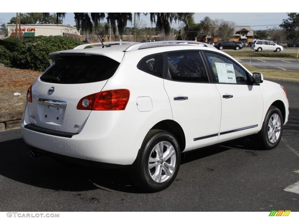 2013 Pearl White Nissan Rogue SV #76278694 Photo #4 ...