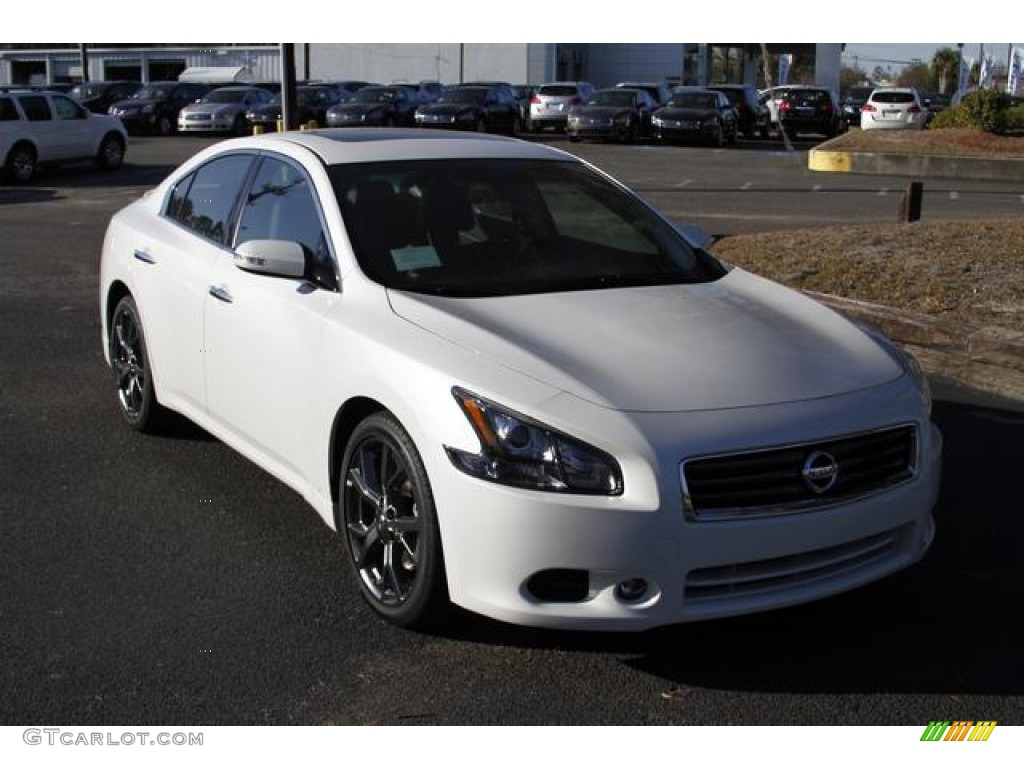 2013 pearl white nissan maxima 3 5 sv sport 76278658 photo 13 car color galleries. Black Bedroom Furniture Sets. Home Design Ideas