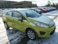 2013 Lime Squeeze Ford Fiesta SE Sedan  photo #1