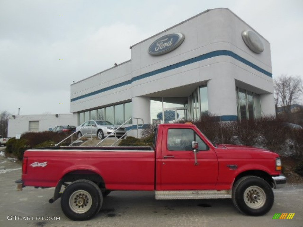 bright red 1997 ford f250 xl regular cab 4x4 exterior photo 76285848. Black Bedroom Furniture Sets. Home Design Ideas