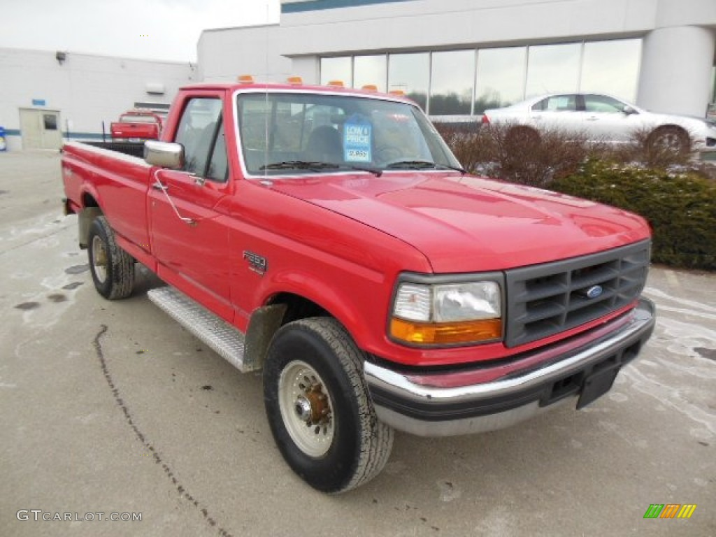 bright red 1997 ford f250 xl regular cab 4x4 exterior photo 76285873. Black Bedroom Furniture Sets. Home Design Ideas