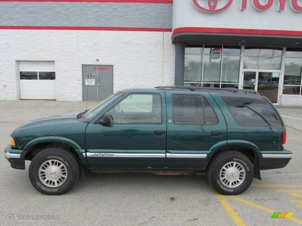 1996 Emerald Green Metallic Gmc Jimmy Slt 4x4 76279145 Photo 2 Gray