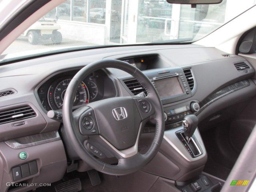 2012 Honda CR-V EX-L 4WD Beige Dashboard Photo #76291444