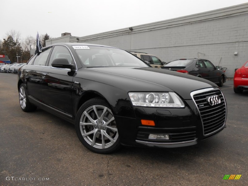 2010 phantom black pearl effect audi a6 3 0 tfsi quattro sedan 76279278 car. Black Bedroom Furniture Sets. Home Design Ideas