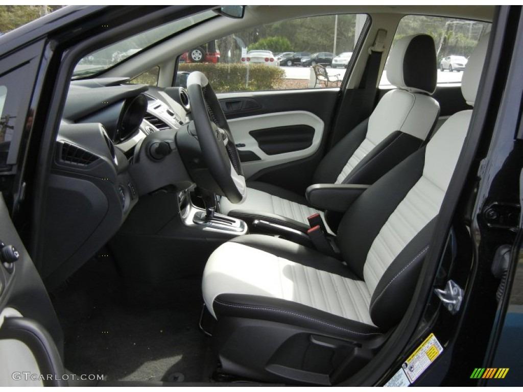 arctic white leather interior 2013 ford fiesta titanium sedan photo 76303310