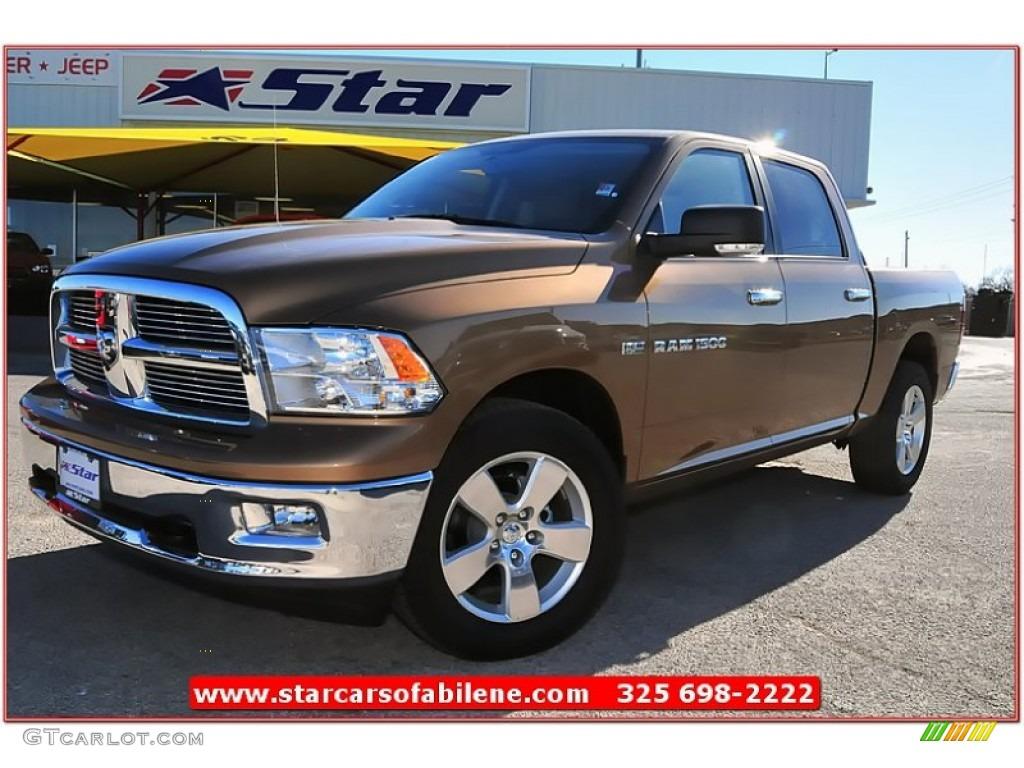2012 saddle brown pearl dodge ram 1500 lone star crew cab 4x4 76279408 car. Black Bedroom Furniture Sets. Home Design Ideas
