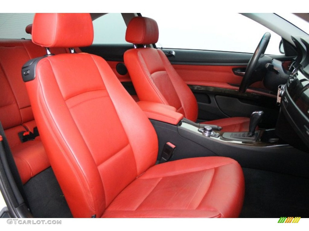 Coral Red Black Dakota Leather Interior 2009 Bmw 3 Series 335i Coupe Photo 76306242